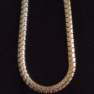 "Monet 30"" Vintage Thick Herringbone Necklace."
